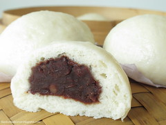 Red bean Pau (steamed buns)