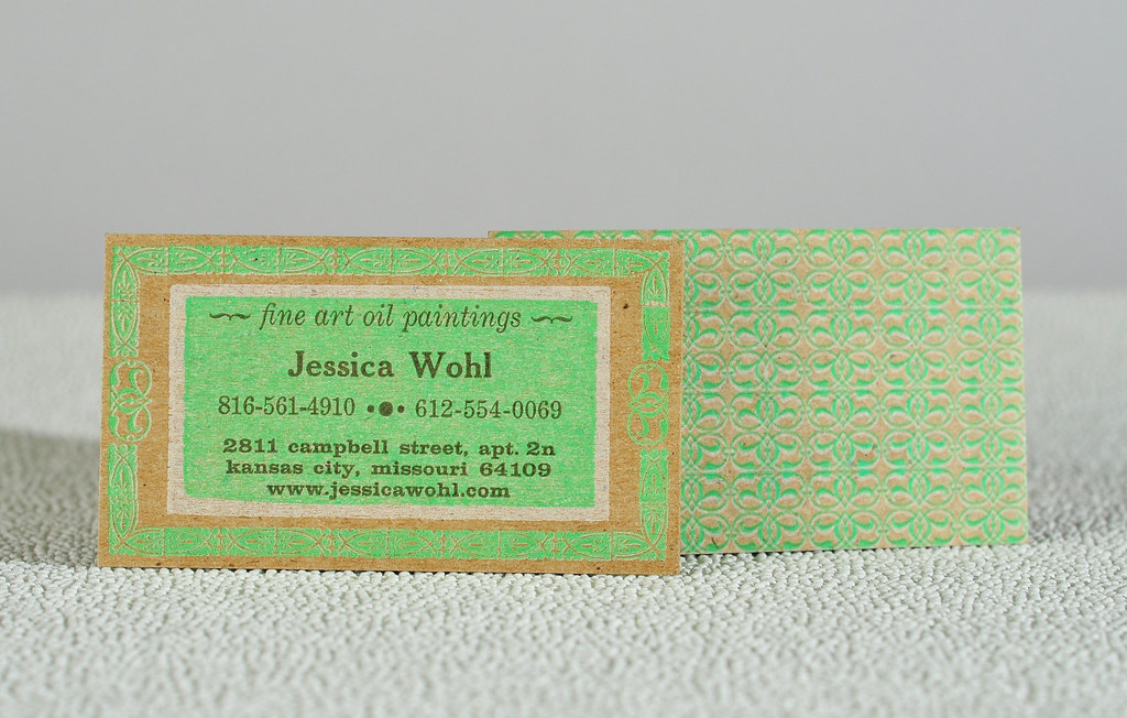 The worlds best photos of chipboard and letterpress flickr hive mind jessica wohl artist letterpress business card twotonepress tags white reheart Gallery
