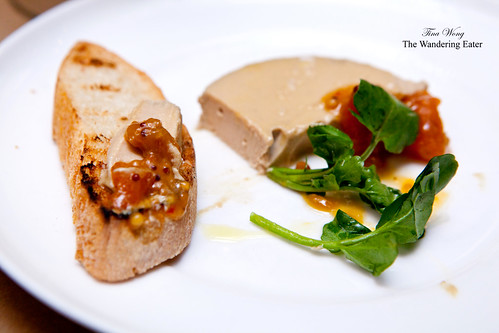Foie gras torchon with kumquat and Maker's Mark marmalade