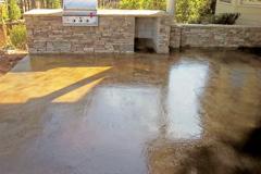 Stamped Concrete outdoor kitchen