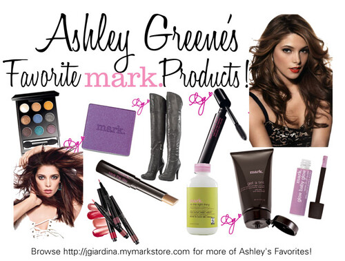 Ashley Greene's Favorite mark. Products!