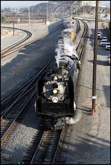 UP 844 Approaching Pepper Ave. (K-Szok-Photography) Tags: california railroad canon outdoors centennial steam socal transportation unionpacific 5d canon5d canondslr steamtrain inlandempire up844 alltrains sbcusa alltypesoftransport westcolton kenszok