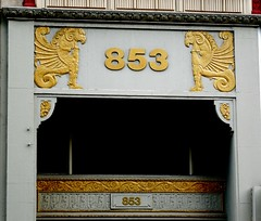 Architectural Detail: Union Building - 853 Broadway at East 14th Street, New York (Anomalous_A) Tags: nyc newyorkcity ny newyork building architecture manhattan terracotta entrance artdeco unionsquare deco gryphon emeryroth