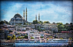 City view (Terry Pellmar) Tags: travel texture turkey istanbul mosque mygearandme mygearandmepremium thesleymaniyecamiimosque
