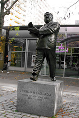 Greenwich Village Nov 2011  Mayor Fiorello LaGuardia (Whiskeygonebad) Tags: city nyc people ny fall statue thevillage afternoon mayor artistic manhattan sunday saturday tourists neighborhood artsy nyu visitors greenwichvillage fiorellolaguardia 2011 thelittleflower