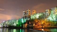 Last one out switch the lights off (Complete Buffoon) Tags: mill lights durham cathedral wear lumiere fulling 2011