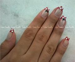 Minnie (laísa creatto) Tags: nail vermelho minnie bolinha unha laço francesinha gravatinha