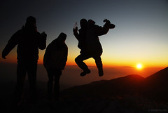 jump for joy (.:: Maya ::.) Tags: sunset people mountain jump jumping bulgaria pirin mayaeye mayakarkalicheva