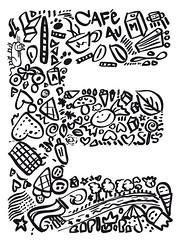 Sweet E (jennfi) Tags: trees detail mushroom caf umbrella cat leaf cafe kitten heart sweet cone flag au kaffee doodle e icecream donut doughnut font letter lait crown abc katze alphabet lollipop typo blatt eis lolli bume herz flagge bonbon scribble bold paraplu lutscher pilz milch allee buchstaben typographie regenschirm scribbling gekritzel buchstabe kritzelei naiv ss boldbold