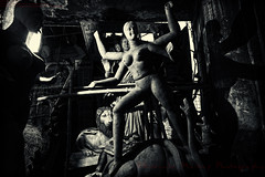 Unfinished Goddess Kali Idol [ BW Version ] (Sukanta Maikap Photography) Tags: blackandwhite bw india streetphotography diwali kolkata calcutta westbengal kalipuja blackwhitephotos dipabali kumartuli tokina1116f28 goddesskaliidols clayidolshalffinishedidols unfinishedkaliidols canon450dtokinaatxprosd1116mmf28ifdx