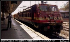 02209 down Mumbai central-New Delhi Duronto Inagural Special at platform no.4 of Bovrivali (akshaypatil™ ® photography) Tags: brc bct ndls wap4 duronto