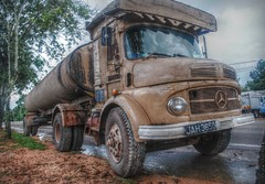 Old Mercedes Truck - Still Going Strong ! (tamahaji) Tags: old truck still good running lori malaysia concept jalan shape hdr tua hantu sideway condition tepi