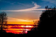 The red sky! (explored) (Sina Farhat) Tags: street light sunset red sun sol home colors clouds canon göteborg fire raw colours sweden bokeh gata sverige hemma solnedgång eld 031 röd moln färger ljus gothenborg 50d skärpedjup canon50mm14usm lightroom4