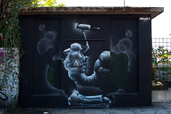 'Anatomy of a Vandal' (SHOK-1) Tags: light shadow england urban italy streetart london monochrome bug painting insect graffiti mural freestyle outsiderart power britain outsider character letters cell cellular wallart s urbanart vandal xray anatomy technical vandalism letter translucent british spraypaint publicart organic concept transparent conceptual aerosol bomb bomber technique cells powerful chiaroscuro caravaggio shok bombing biological ravenna spraycan greyscale throwup shok1 improvisational organicstyle tenebrism cancontrol bubbleletter shokone organicgraffiti organicletters caravaggist rigenerarte
