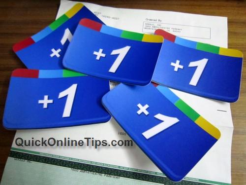 Google Plus One stickers