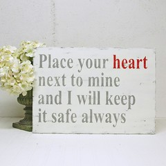 Love Poem. Wood Sign. Place Your Heart.. (Signs of Vintage) Tags: handpainted valentines lovepoem woodsign originalpoem