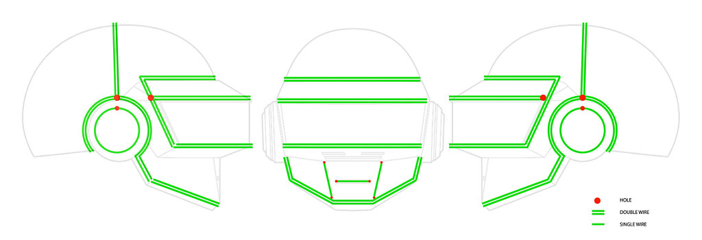 Correct EL Wire Layout. | The Daft Club - Daft Punk Fansite