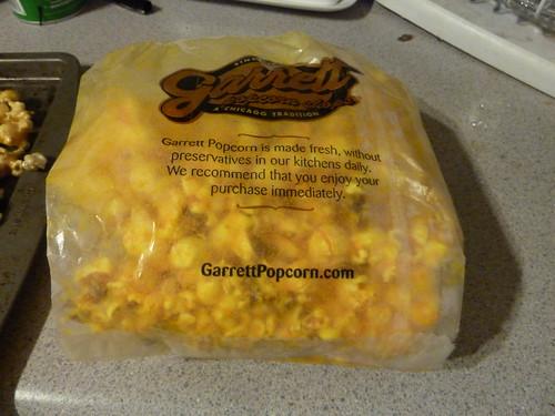Half-bag of Garrett's Cheese Popcorn
