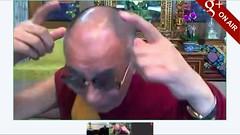 Dalai Lama with horns - pix 3 - 達賴惡魔 (达赖恶魔) 有相及錄影為証
