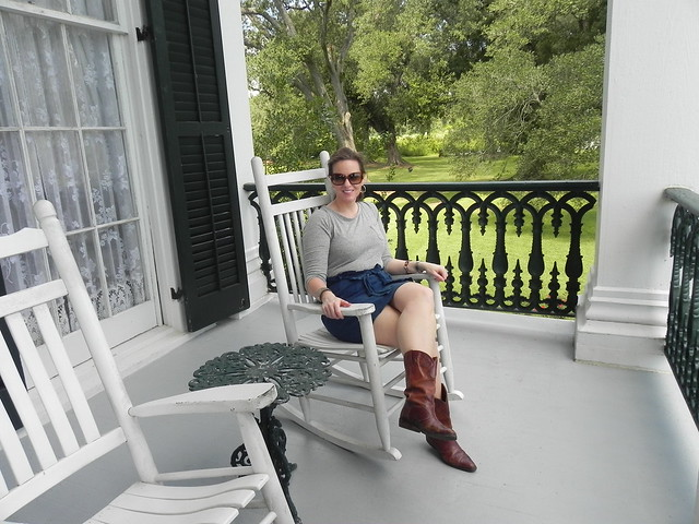 Relaxing on the Nottoway Mansion Porch