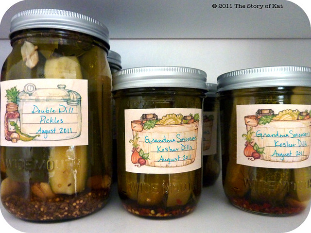 Pickles in the pantry, 2011