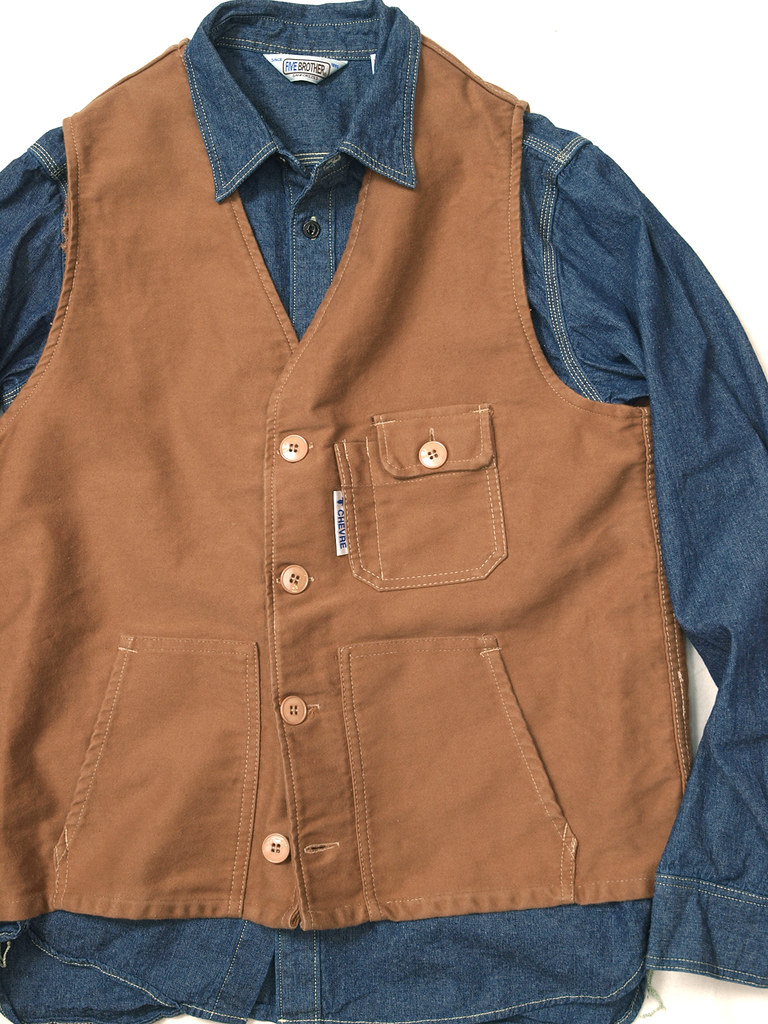 Chevre / Moleskin Work Vest