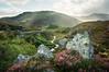 Highland Light (gms) Tags: light mountain rock scotland heather perthshire scottish highland rays a822 corrymuchloch