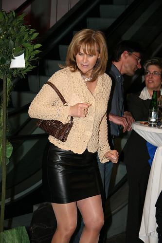 Milf leather skirt