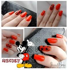 Flash - Cora + Mickey (brunajust) Tags: flash mickey unhas cora nailart esmalte