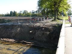 Bereich rückgebaute Brücke am Zülowgraben