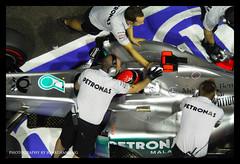 Schumacher back into the pits (Jonathan Ang) Tags: one michael singapore grand f1 racing prix formula motor soe schumacher flickraward blinkagain