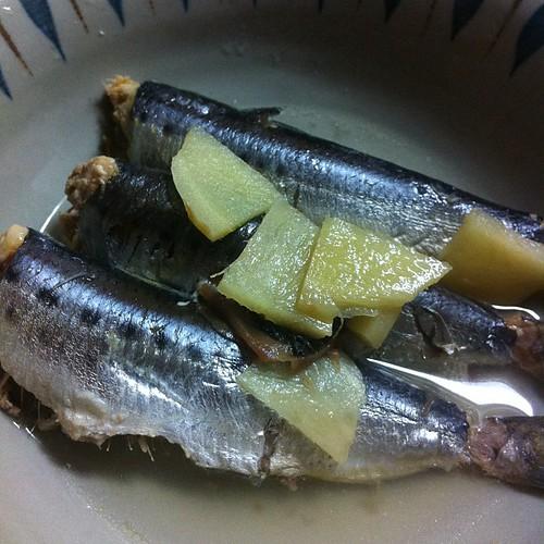 イワシの梅生姜煮 #dinner