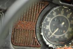 Speedometer and grill (Keith_Prefect) Tags: orange broken field vw volkswagen rust clare beetle rusty rusting cooraclare