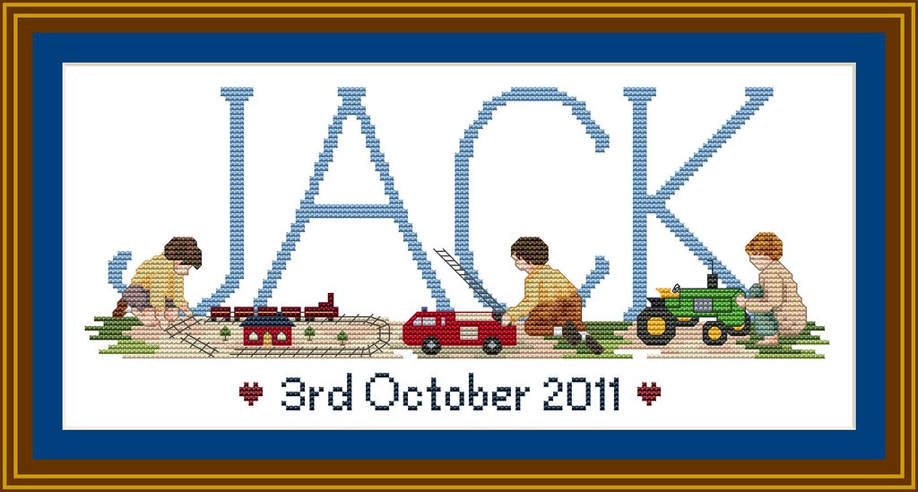 Boys & Toys Cross stitch design