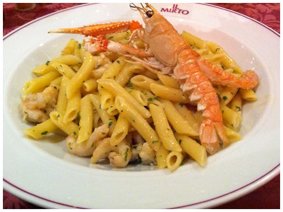 Crayfish pasta dish - Il Mirto, Geneva
