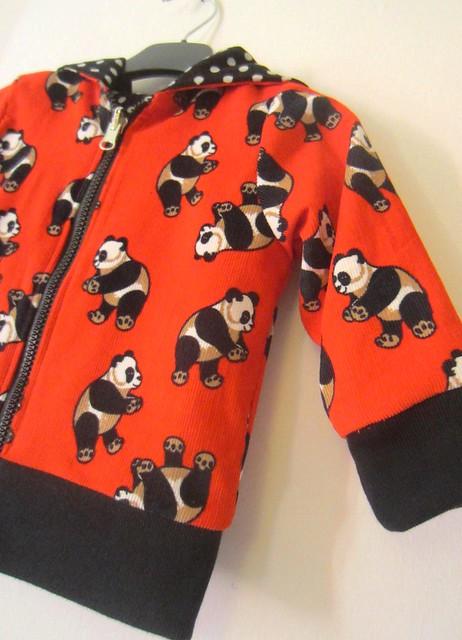 panda hoodie detail