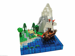 WarScape: Vol2; Chapter 1 of 5 (Blake's Baericks) Tags: house mountain tree castle water coral boat lego snake ships story serpent blake baer microscale siercon