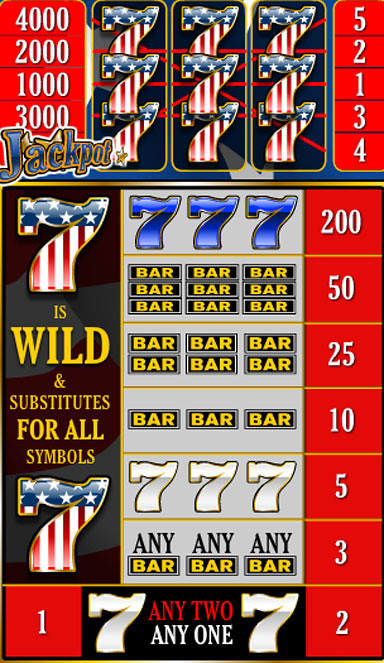 free Red White Blue 5 Lines slot game symbols