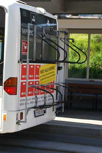 Bikes by bus in Innsbruck