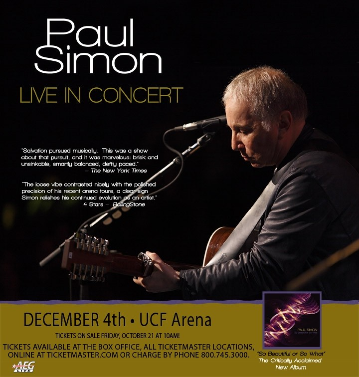 Paul Simon at UCF Arena