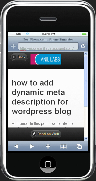Mobile web app using with your rss feed and php