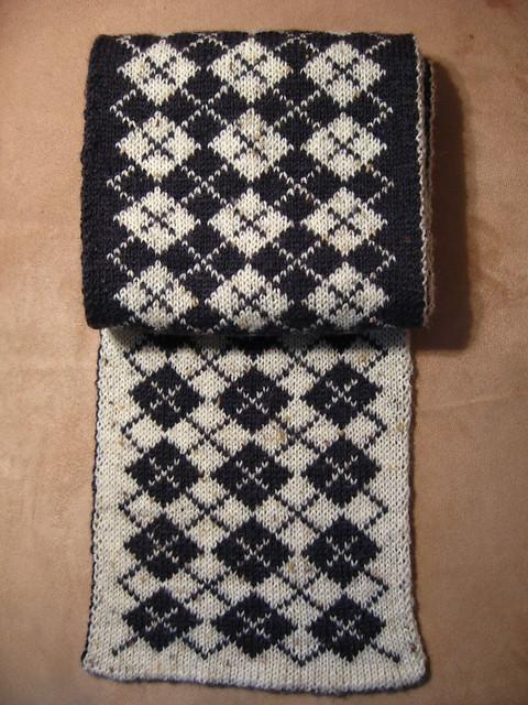 男士围巾(2) --双面织 - 彩虹桥 - 彩虹桥