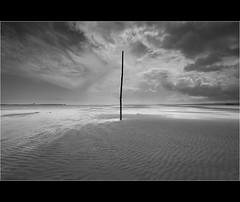 Centralized... (Devilineden) Tags: sea castle photoshop canon island north holy northumberland causeway 50d cs5 lindasfarne devilineden