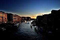 Canal Grande (Federico Paoletti) Tags: venice sunset color nikon tramonto wideangle fullframe venezia grandangolo ff paesaggio rialto gondole landascape canalgrande d700