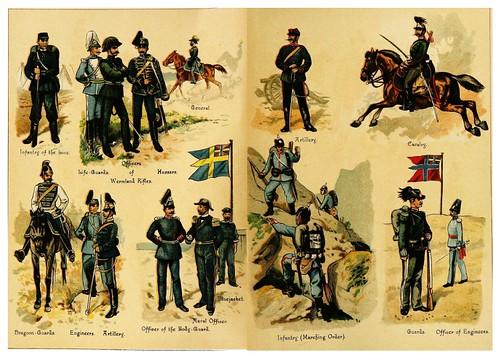 014-Armadas de Suecia y Noruega-Armies of Europe (1890)- Fedor von Köppen