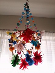 Polish Paper Chandelier or Pajaki (Loup-Loup) Tags: home craft chandelier decorating brightcolors decor tissuepaper louploup pajaki interiorstyling