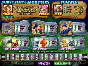 free Monster Mayhem slot game symbols