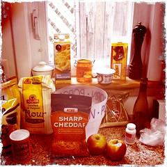 Apple Cheddar Scones - The Ingredients