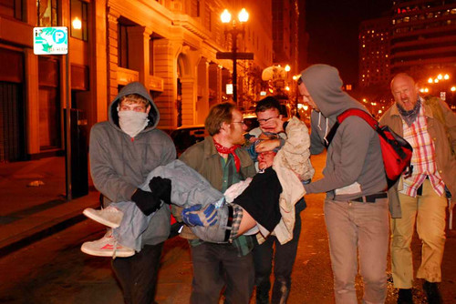 Occupy Oakland injury