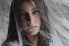 Entangled (Lou Bert) Tags: portrait girl self web spiderweb cobweb dust